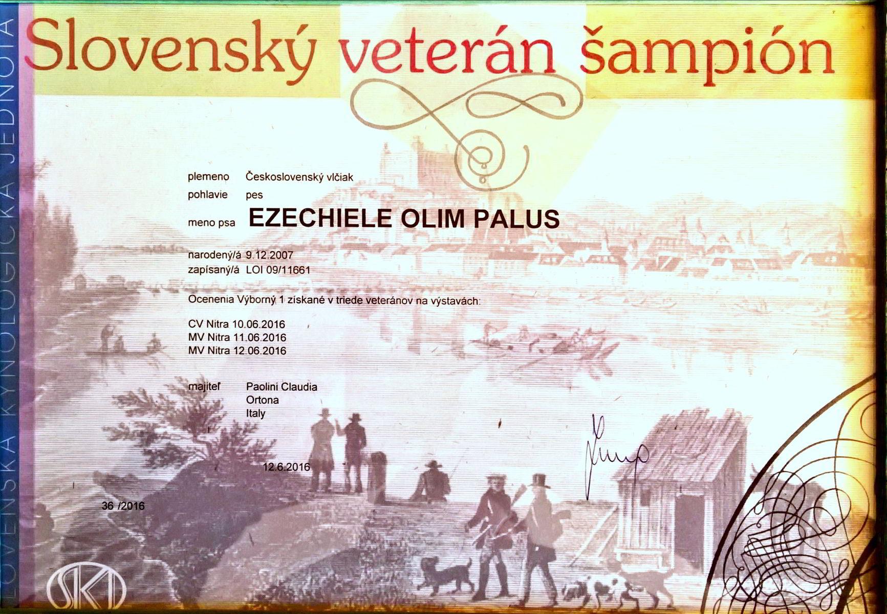 Ezechiele campione veterano slovacco